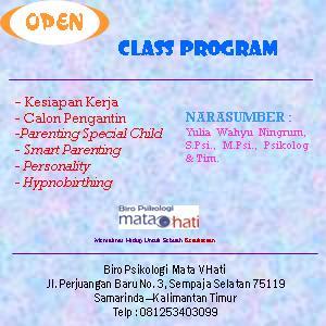 "Kami membuka ""Class Program"" dengan berbagai jenis kelas. Khusus 5 orang/kelas. Segera Daftarkan Diri Anda!"