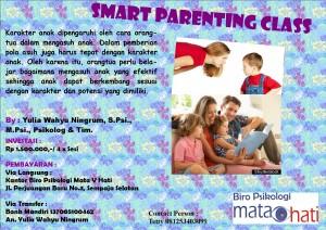 """Kami membuka """"Smart Parenting Class"""", khusus 5 Orang/Kelas dengan Harga khusus. Segera daftar!! dan dapatkan potongan khusus untuk pendaftaran program lainnya."""