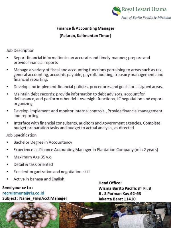 PT MKC-Finance & Accounting Manager